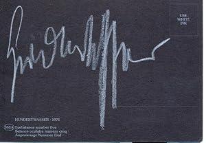 Carte postale autographe signée: HUNDERTWASSER, Friedrich Stowasser, dit (1928-2000), ...
