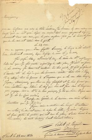 Lettre autographe signée: BRETAGNE - GUIOT DU REPAIRE Jean (1755-1819), général de division.