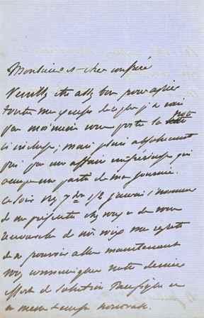 Lettre autographe signée: DU CAMP Maxime (1822-1894), écrivain, photographe, membre de ...