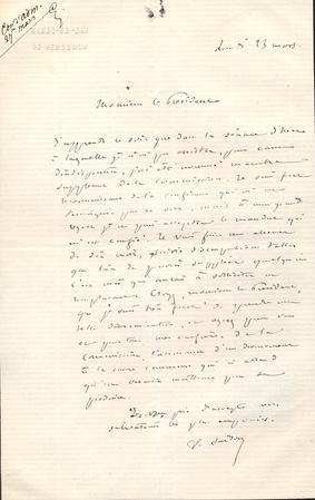 Lettre autographe signée: SARDOU Victorien (1831-1908), dramaturge, adepte de l'art ...