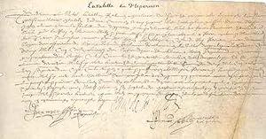 Pièce signée sur vélin: RÉGIONALISME