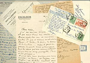 Ensemble de 16 lettres autographes signées, manuscrit autographe, 2 Lettres signées, ...