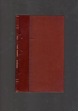 A sermon, written by the late Samuel: JOHNSON, Samuel.]