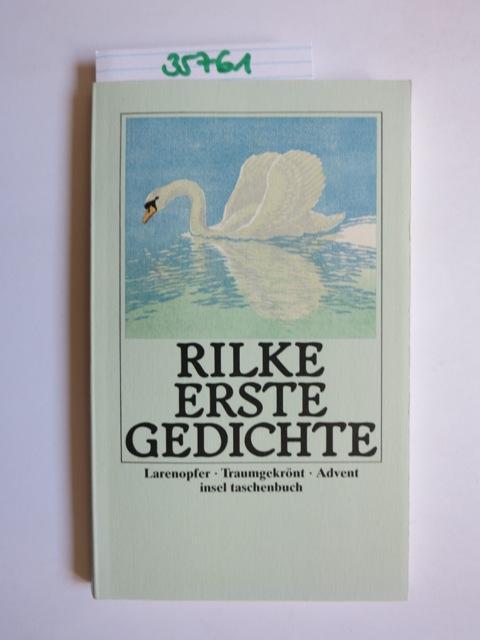 Erste Gedichte Insel Taschenbuch 1090 Von Rilke Rainer