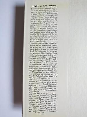 Grossdeutschland. Traum und Tragödie. Rosenbergs Kritik am Hilterismus.: Härtle, H.: