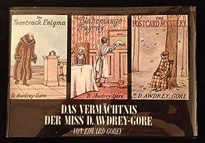 Das Vermachtnis Der Miss D. Awdrey - Gore The Toastrack Enigma / the Blancmange Tragedy /...