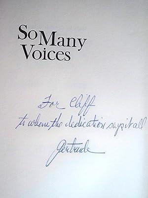 SO MANY VOICES: Schweitzer, Gertrude