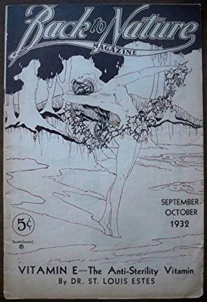 BACK TO NATURE MAGAZINE, SEPTEMBER-OCTOBER 1932, VOL. 17, NO. 3: Various