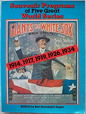 SOUVENIR PROGRAMS OF FIVE GREAT WORLD SERIES: 1914, 1917, 1919, 1926, 1934