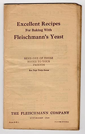 EXCELLENT RECIPES FOR BAKING WITH FLEISCHMANN'S YEAST