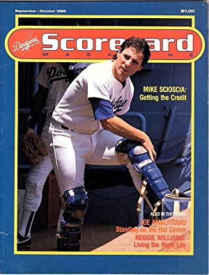 DODGERS GAME SCORECARD MAGAZINE, SEPTEMBER - OCTOBER 1986