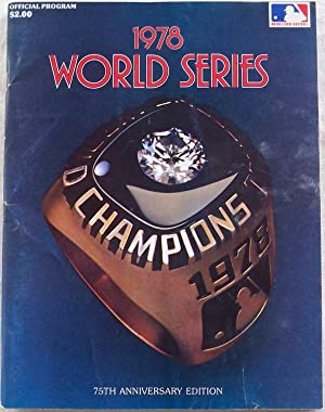 1978 WORLD SERIES OFFICIAL PROGRAM, 75TH WORLD SERIES