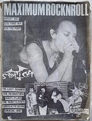 MAXIMUMROCKNROLL, AUGUST 2001, ISSUE 219 (MAXIMUM ROCKNROLL): Various