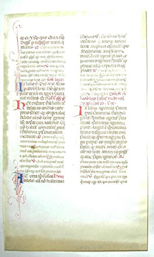 Small medieval vellum manuscript leaf: Southern France, 15th century: Mass book]
