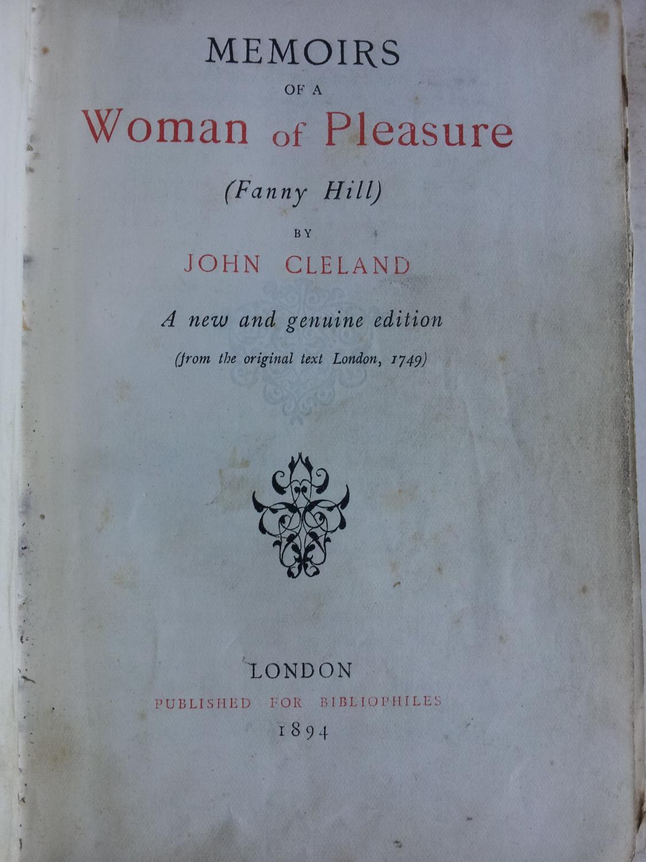 Memoirs of a Woman of Pleasure (Fanny Hill): John Cleland ...