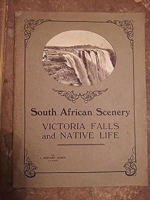 South African Scenery Victoria Falls and Native: L. Bernard Jensen