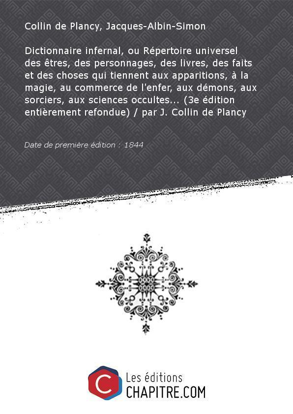 Collin De Plancy J Dictionnaire Infernal De Jacques Albin Simon