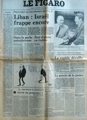 FIGARO (LE) N° 11470 DU 21 07 1981