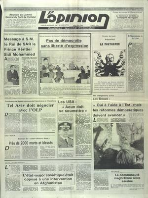 OPINION (L') N° 8862 DU 20 11 1989