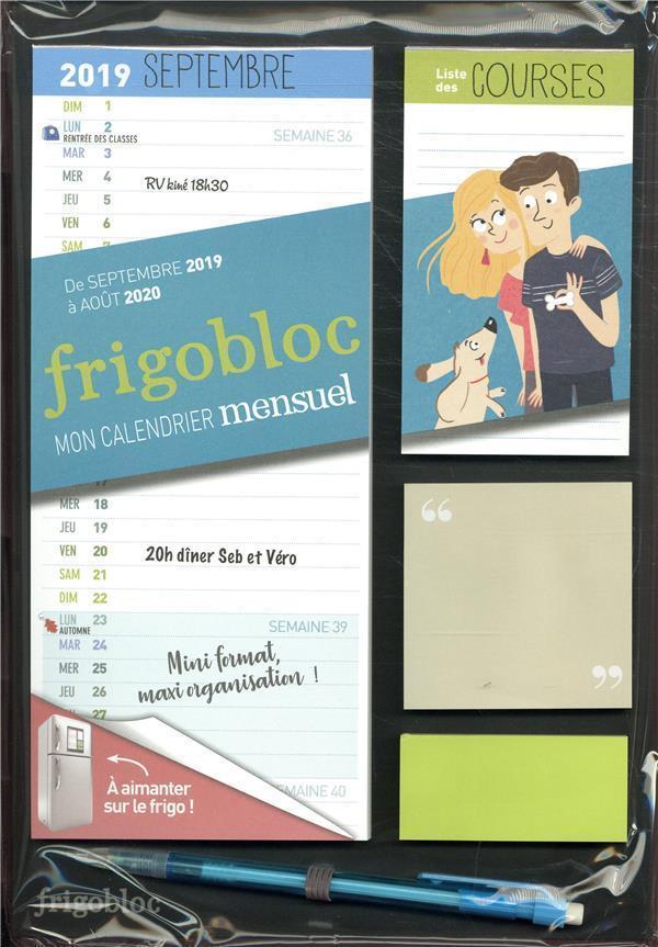 Calendrier Du Mois D Aout 2020.Mini Frigobloc Mensuel Calendrier D Organisation Familiale