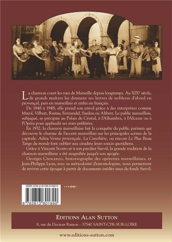 Marseille - un siècle de chansons (1848-1948) - Crescenzo, Georges-Lyon, Jean-Philippe