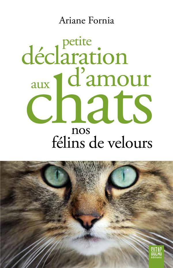 Petite Declaration d'Amour aux Chats - Nos Felins de Velours