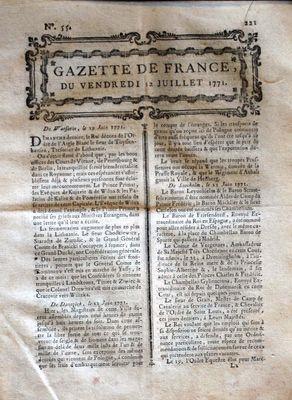 GAZETTE DE FRANCE N? 55 DU 12 07 1771
