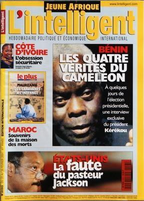 JEUNE AFRIQUE L'INTELLIGENT N° 2093 DU 20