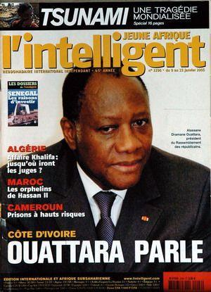 JEUNE AFRIQUE L'INTELLIGENT N° 2296 DU 09