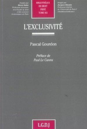 l'exclusivite: Gourdon, Pascal