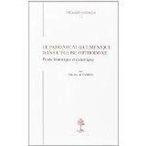 le patriarcat oecumenique dans l'eglise orthodoxe etude historique et canonique: De Sardesmaxime