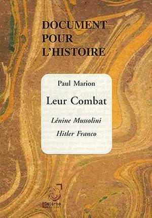 document pour l'histoire - leur combat -: Marion, Paul