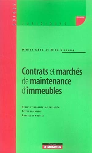 contrats et services de maintenance d'immeubles