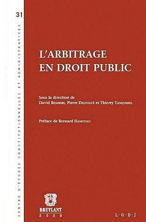L'arbitrage en droit public: Collectif