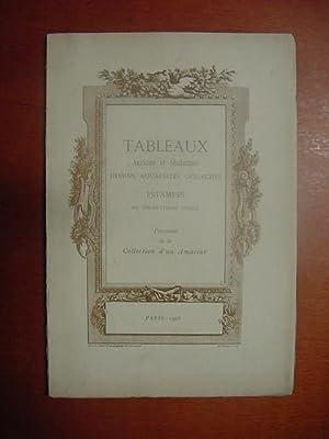 Catalogue des Tableaux anciens et modernes par: collection dun amateur]