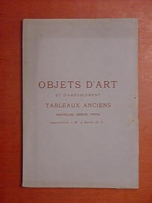 Catalogue des Objets dArt et dAmeublement du: collection baron de