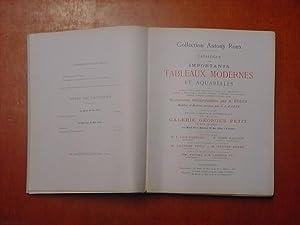 Catalogue des importants Tableaux Modernes et Aquarelles: collection Antony Roux]