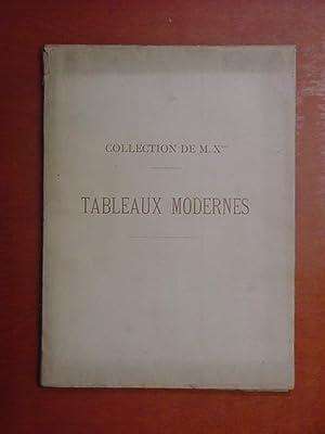 Catalogue de Tableaux modernes [dont par Appian, Beauquesne, Boudin, Clésinger, Corot, Daumier, ...