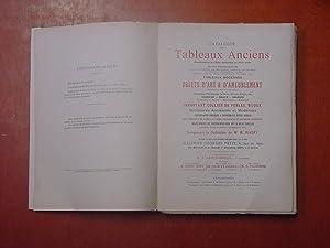 Catalogue des Tableaux anciens principalement de lécole hollandaise du XVIIe siècle, uvres ...