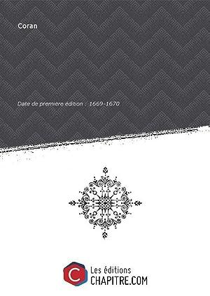 Coran [Edition de 1669-1670]