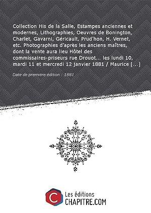 Collection His de la Salle, Estampes anciennes