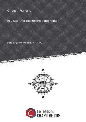 Partition de musique : Exultate Deo (manuscrit