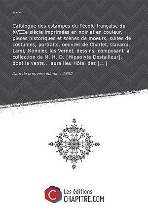Catalogue des estampes du l'école française du