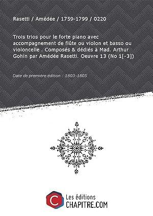 Partition de musique : Trois trios pour: Rasetti Amédée 1759-1799