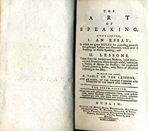 ART OF SPEAKING (The): Collectif