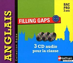 filling gaps - anglais - niveau B1-B1+ bac pro - 2 CD audio collectifs (édition 2010)
