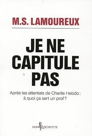 je ne capitule pas - après les attentats de Charlie Hebdo : à quoi ça sert un ...