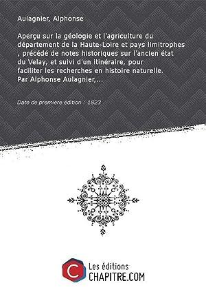 Aperçu sur la géologie et l'agriculture du: Aulagnier, Alphonse