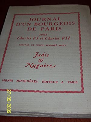 Journal d'un bourgeois de Paris sous Charles: Pilon, Edmond