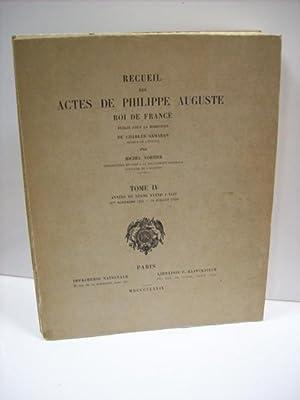Recueil des actes de Philippe Auguste, roi de France: Collectif